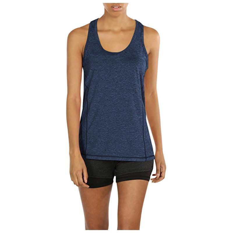 Été Sexy Sporting Women Débardeur Top Fitness Entraînement Tops Gyming Femmes Chemises sans manches Sporting Séchoir rapide Vest lâche # Bl5 Tfxng