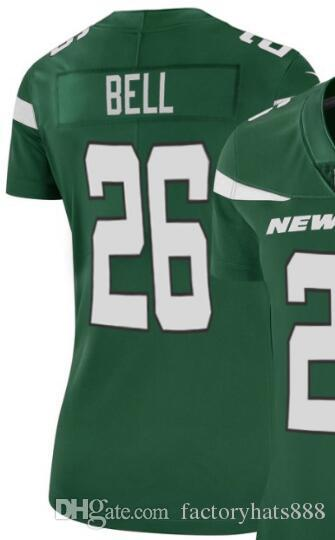 Womens New York 14 26 33 Jersey NYJ Girls Classic Limited Vapor Camisetas American Football Jersey 01