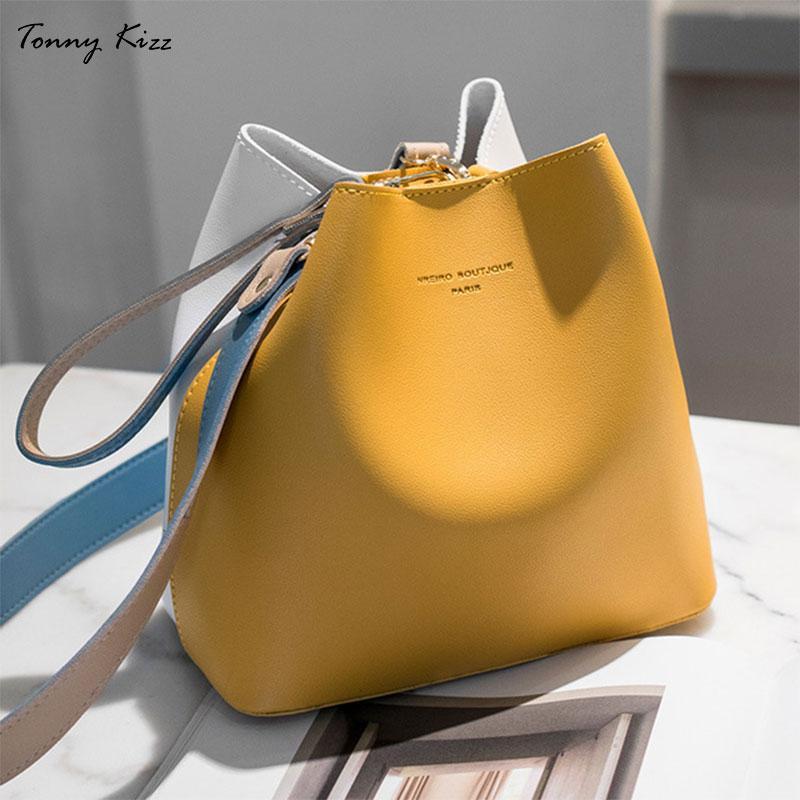Tonny Kizz painéis sacos para mulheres ombro bolsa de couro bolsas femininas crossbody grandes senhoras capacidade cor amarela mão