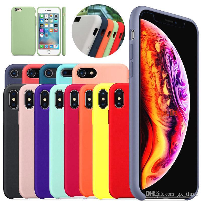 33 tipos de caja delgada del teléfono del silicón del color del caramelo para el iPhone 7 8plus XS XR lindo liso suave tpu contraportada cubierta mate