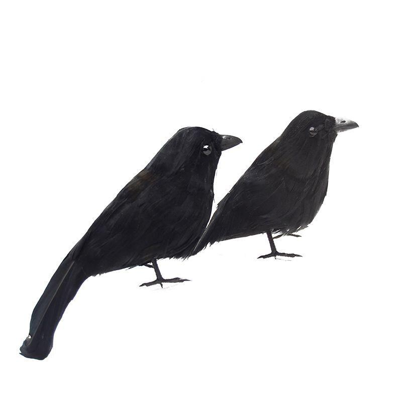 Halloween Crow Easter Ghost Festival props decorated show magic festival supplies feathered bird farm real vision