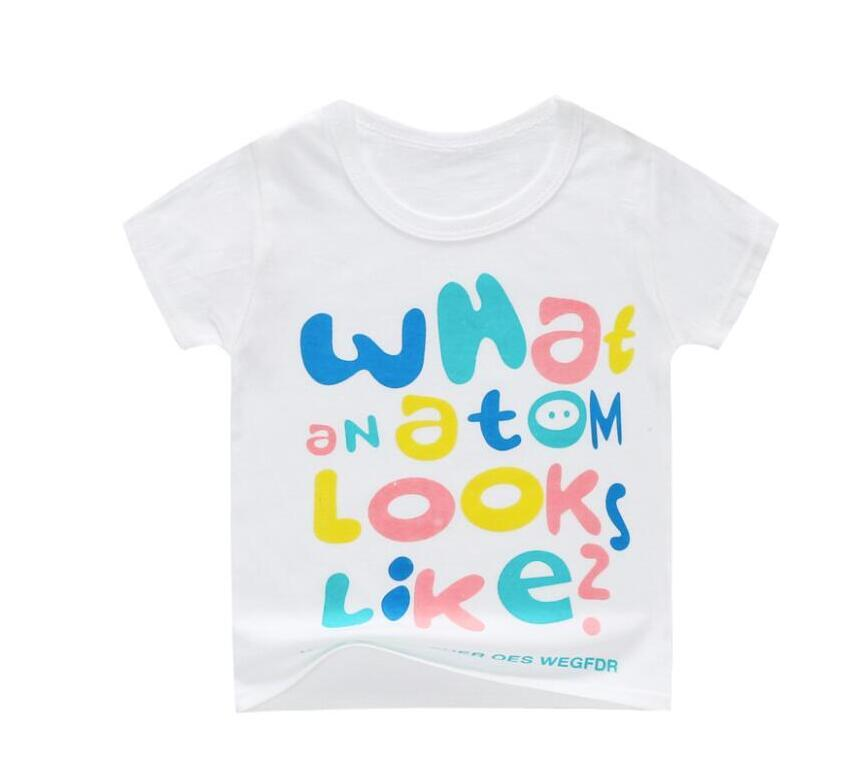 Дети T Shirt 2019 лето новый короткий рукав мультфильм футболки для девочек Топы Хлопок Todddler мальчиков Tee Детские футболки 2-6 лет