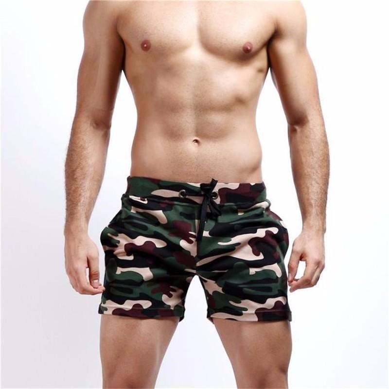 New Camouflage Shorts Low Waist Men Casual Trunks Comfort Homewear Fitness Workout Shorts Pants for Men Funny Size S M L XL