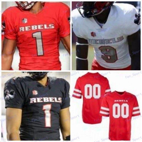 Benutzerdefinierte 2020 UNLV-Rebellen Fußball-Jersey Jeder Name Nummer # 1 Rogers 8 Charles Williams 10 Vic Viramontes 12 Randall Cunningham S-4XL
