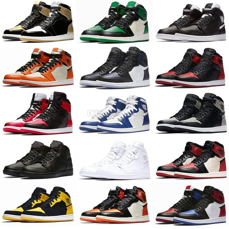 Nuovo 1 I High OG Bred Toe Chicago Banned Game Royal Boots Shoes Men 1s Top 3 Shattered Backboard Shadow Shadow Multicolor
