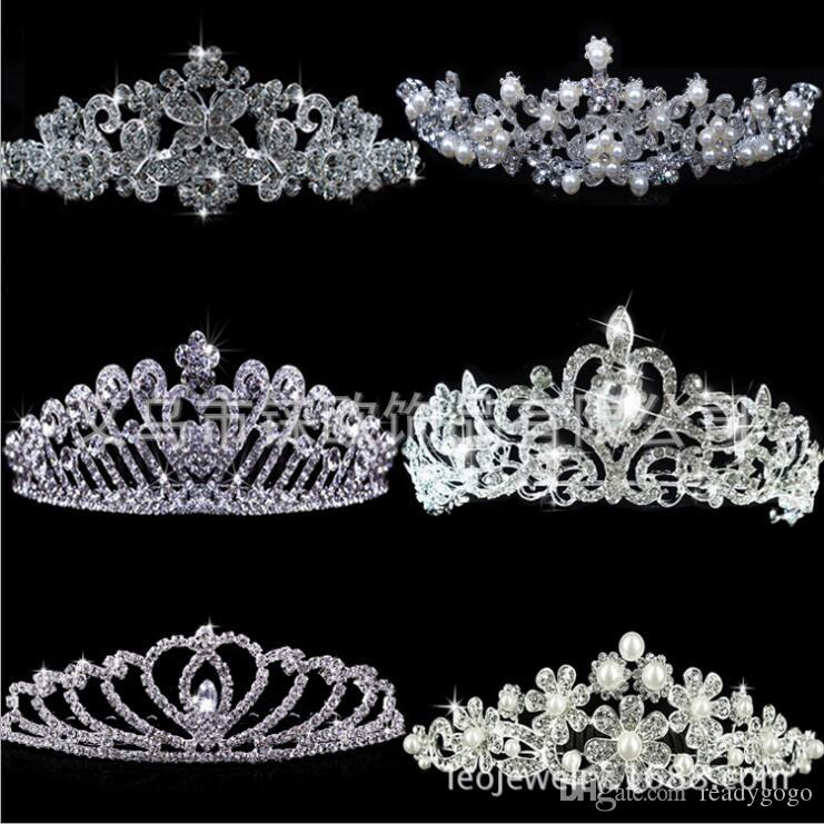 luxury sparkly Rhinestone Crystal Wedding Party Prom Homecoming Crowns Band Princess Bridal Tiaras Hair Accessories Fashion