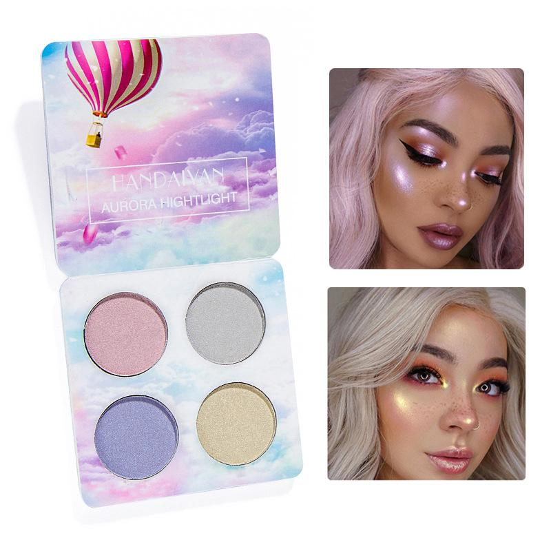 Brand Makeup Bright Light Eye Shadow Palette 4 Colors The Nude Balm Minerals Powder Pigments Cosmetics Glitter Eyeshadow Make Up Q172