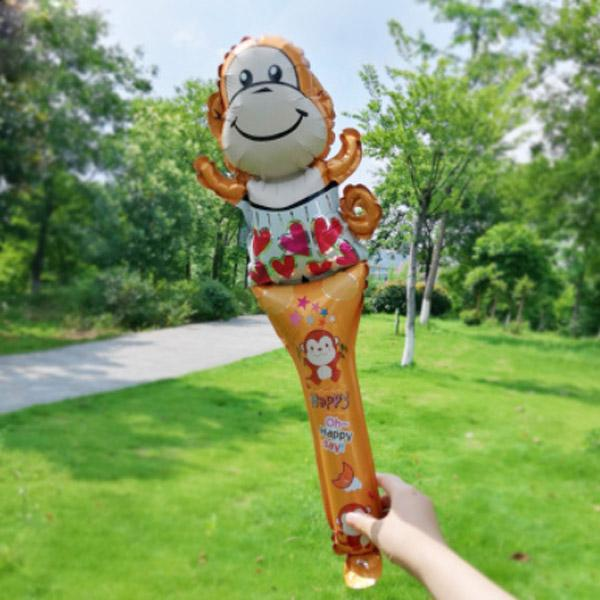 100pcs/lot Game activities cheer party supplies competition air inflatable holder balloon stick