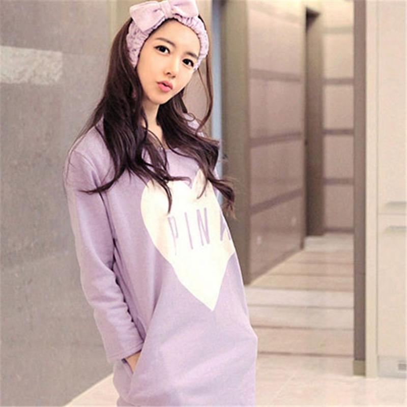 2018 المرأة بيجامة مجموعات الصيف الربيع ملابس النسائية كم طويل لطيف منامة بنات KAWAII ليلة Homewear ثوب النوم بالاضافة الى حجم 11