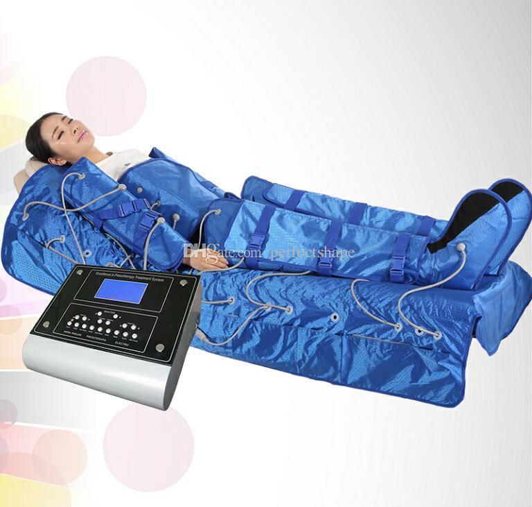 3 en 1 Pressothérapie de couverture chaude de machine de Pressotherapy de réseau infrarouge lointain avec la machine lymphatique de drainage de 16 coussins d'air
