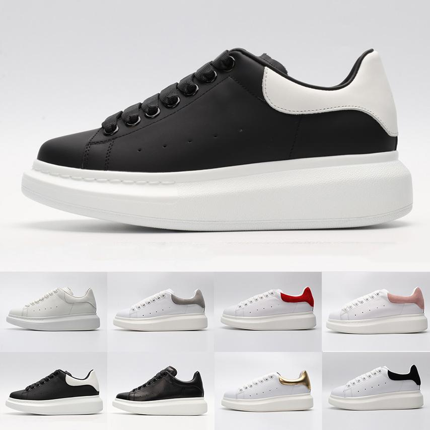 2019 ACE Black white red Fashion Women brand Shoes Gold Low Cut Leather Flat men womens Casual sneakers 02