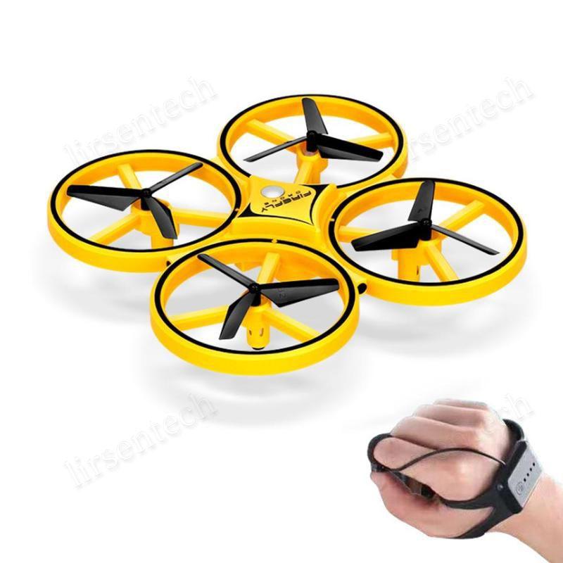 Luce Interactive induzione Drone Giocattoli Quadcopter LED RTF UAV Aircraft Intelligent Guarda il telecomando UFO regalo dei bambini Drone