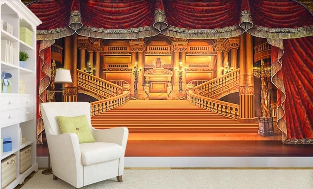 Grosshandel Benutzerdefinierte Mural Tapete 3d Luxury Palace Wallpaper Fur Schlafzimmer Wande Hintergrund Foto 3d Ziegelstein Tapete Von