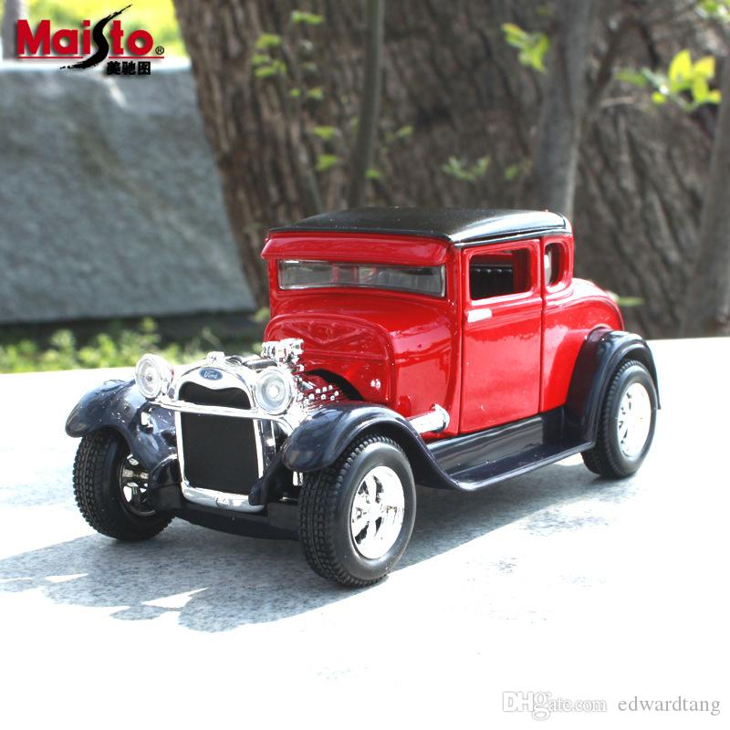 Maisto Diecast Car Model Toy, Retro Ford 1929 Model L, Classic Car 1:24 High Simulation, Party Kid Birthday Gift, Collecting,Home Decoration