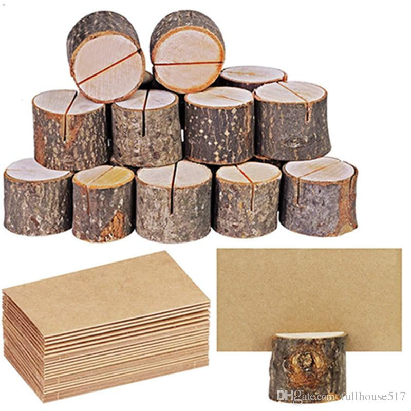 Wedding Place Wooden Card Holders Table Number Holder Stands for Wedding Party Table Number Sign Desk Accessories