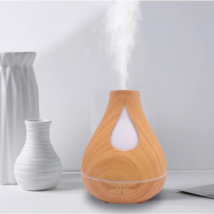Umidificador de grão de madeira, máquina de aromaterapia, máquina de aromaterapia de óleo essencial de escritório em casa, máquina de aromaterapia ultra-sônica luz noturna