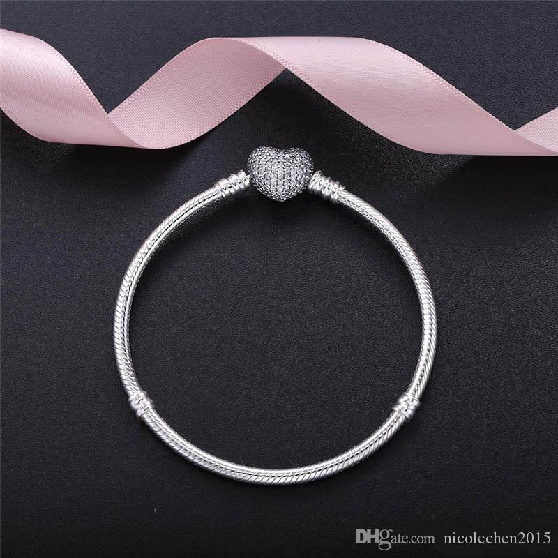 새로운 창조적 인 다이아몬드 상감 실버 도금 여성의 팔찌 기본 체인 제조 업체 직접 도매 유럽 매력 패션 지르콘 팔찌