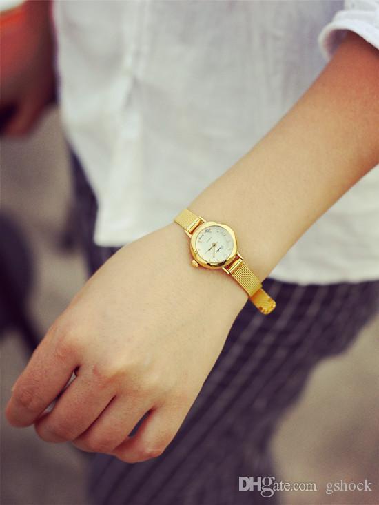 الفولاذ المقاوم للصدأ سليم سيدة الساعات سبيكة الكوارتز المرأة مصمم الساعات الأعمال روز الذهب اللباس جلاتين للنساء أفضل هدية