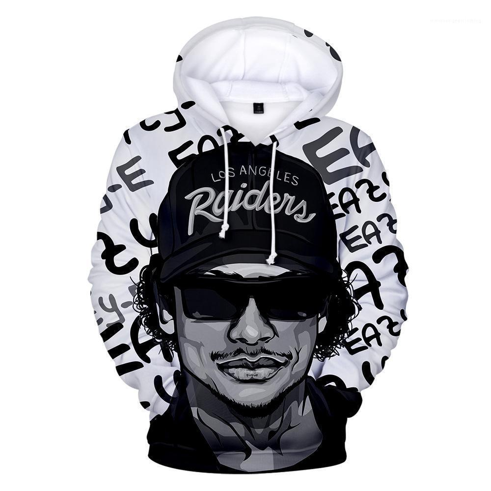3D Impresso manga comprida com capuz Mens Hoodies Casual Plus Size Mens Hoodies dos homens de Hip Hop Marca Hoodies New Rapper Eazy E