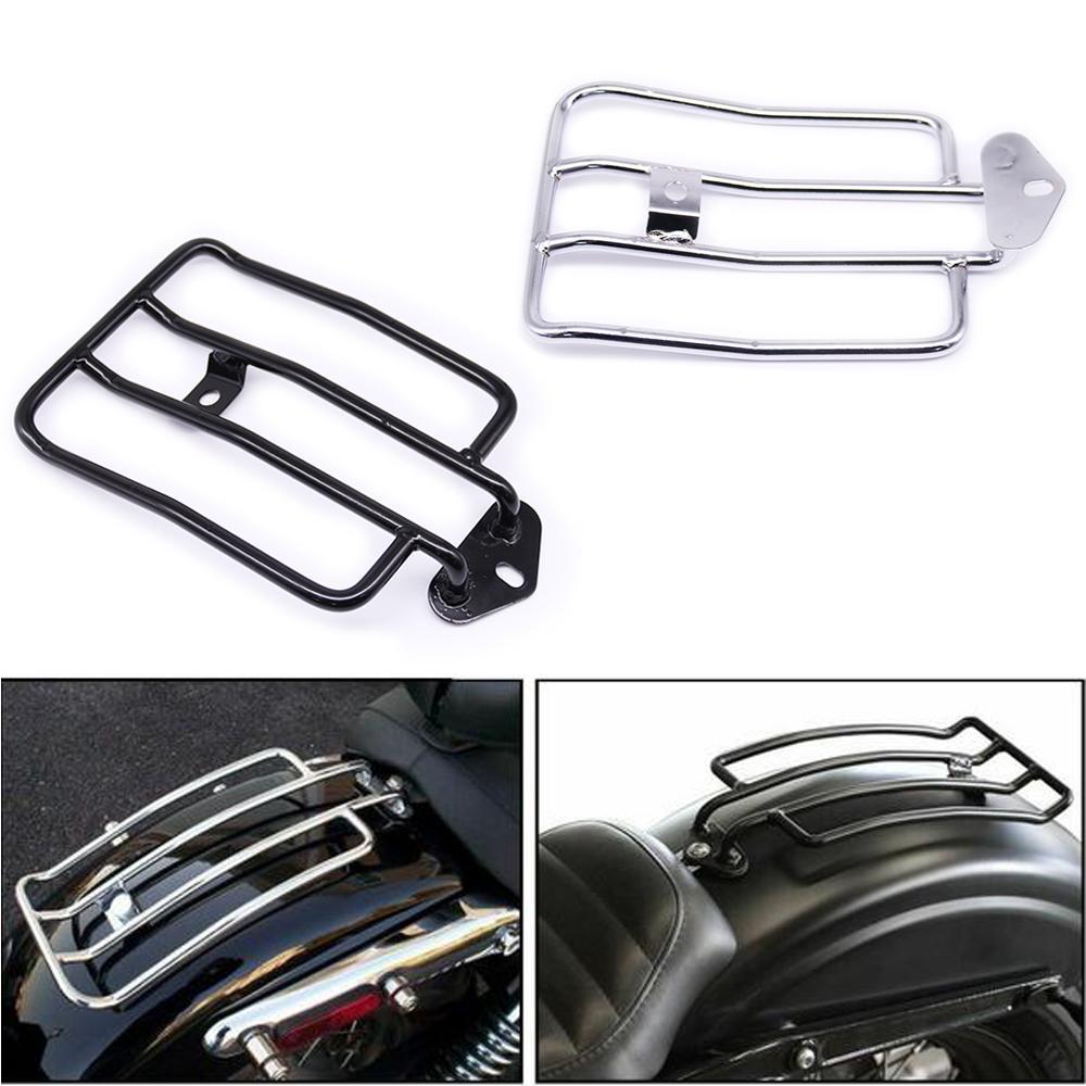 Moto Solo Seat bagagli posteriore Supporto rack scaffale per XL Sportster 48 883 XL1200 2004-2018