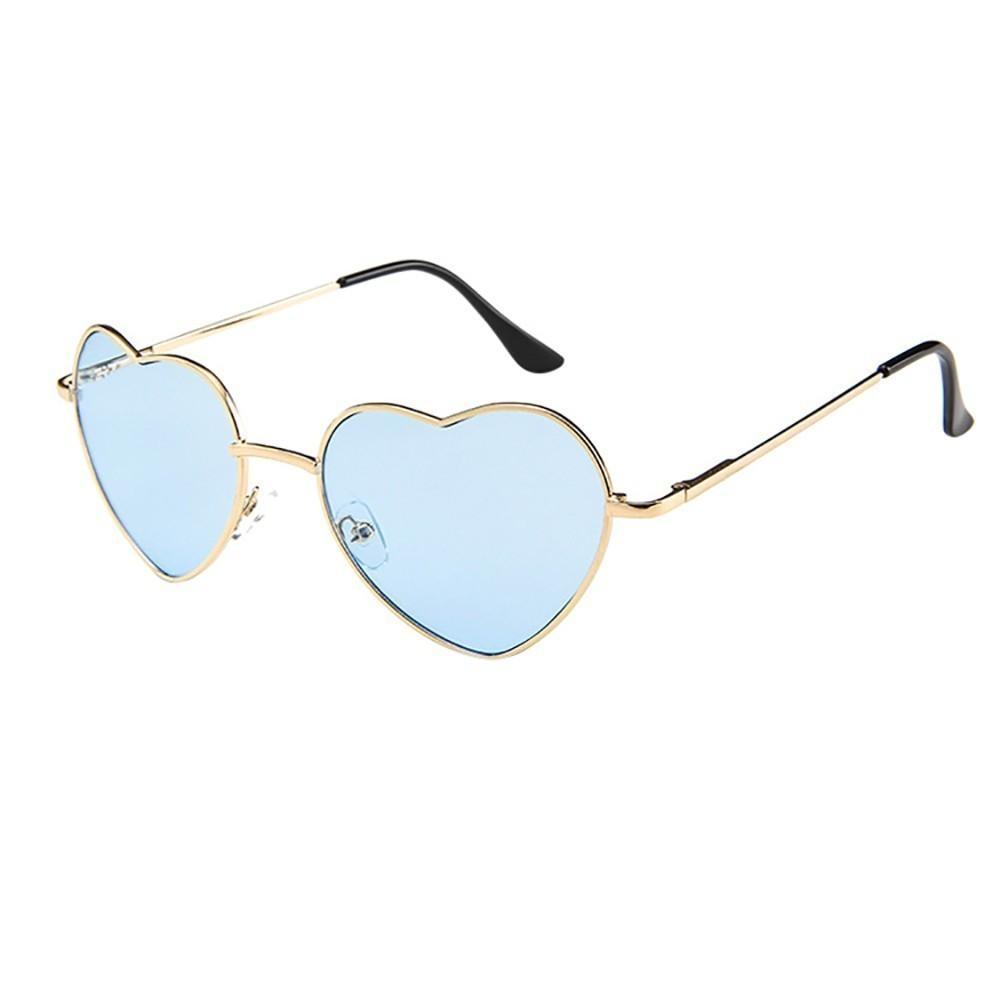 Signore degli occhiali da sole a forma di cuore in metallo Telaio donne del progettista di marca degli occhiali senza montatura AMORE cristalline dell'Oceano Lenti Occhiali Óculos