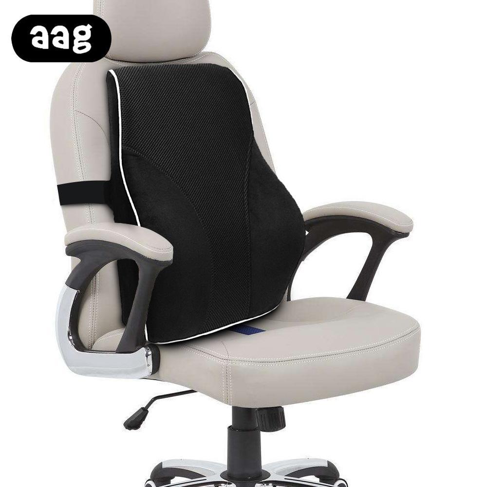 AAG support lombaire voiture coussin en mousse à mémoire de voiture chaise dossier taille coussin de soutien massage bureau à domicile chaise pillowcushion noir