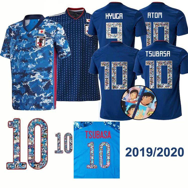 2020 World Cup Japan soccer jersey ATOM 10 CARTOON NUMBER Japan 2019/20 Tsubasa KAGAWA ENDO OKAZAKI NAGATOMO HASEBE KAMAMOTO world cup Shirt