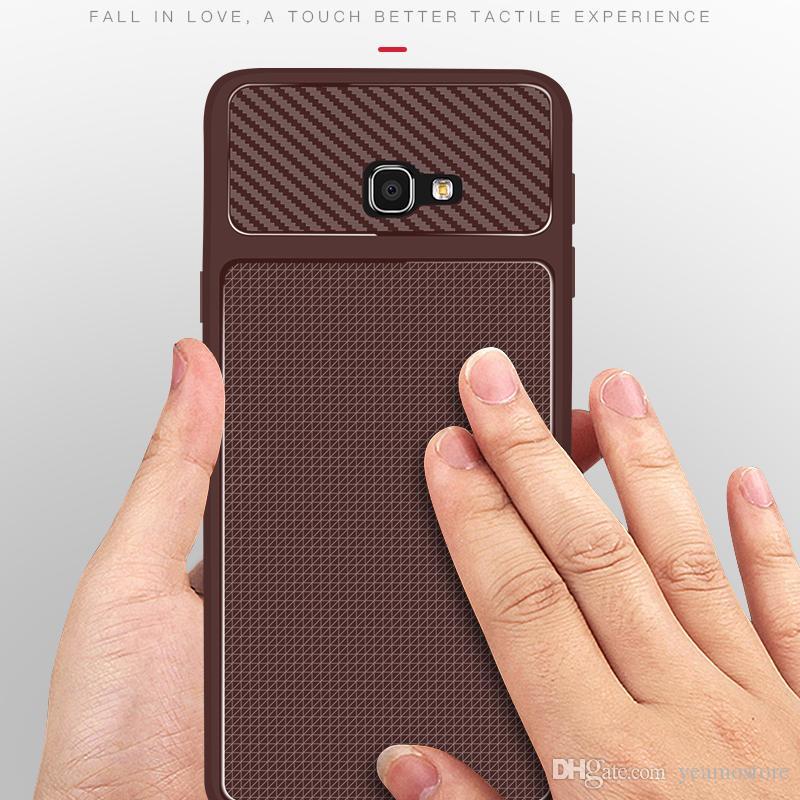 Carbon Fiber Texture Silicone Case for Samsung Galaxy J4 J6 prime J4 J6 plus Galaxy J8 2018 S9 S9 plus Back Case