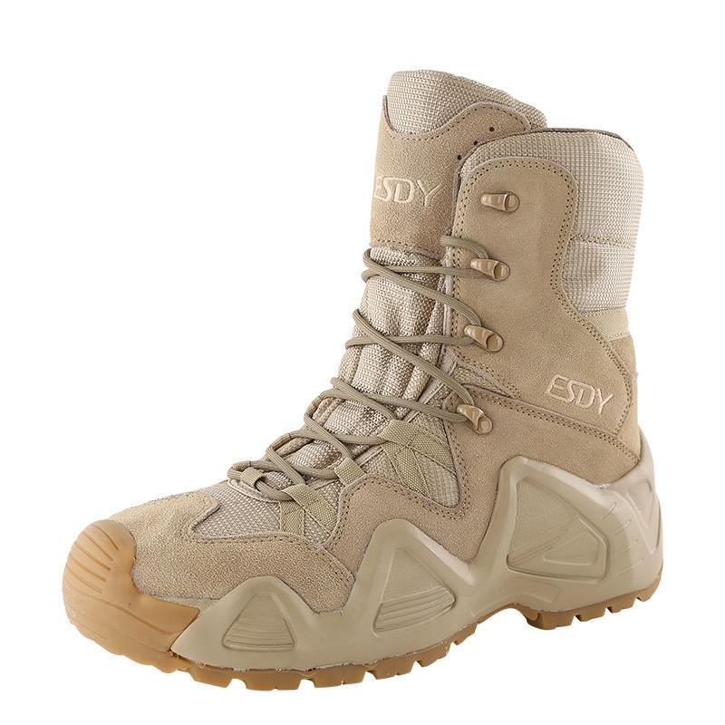 في الهواء الطلق التكتيكية الجيش أحذية أحذية القتال الرياضة للماء الصيد المشي لمسافات طويلة أحذية في الهواء الطلق إطلاق نار أحذية الرجال السود التمهيد