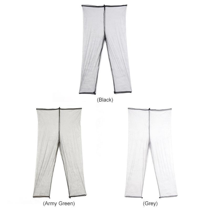 1 Pair Anti Bug Mosquito Net Pants Mesh Pants for Outdoor Fishing Hiking #UK
