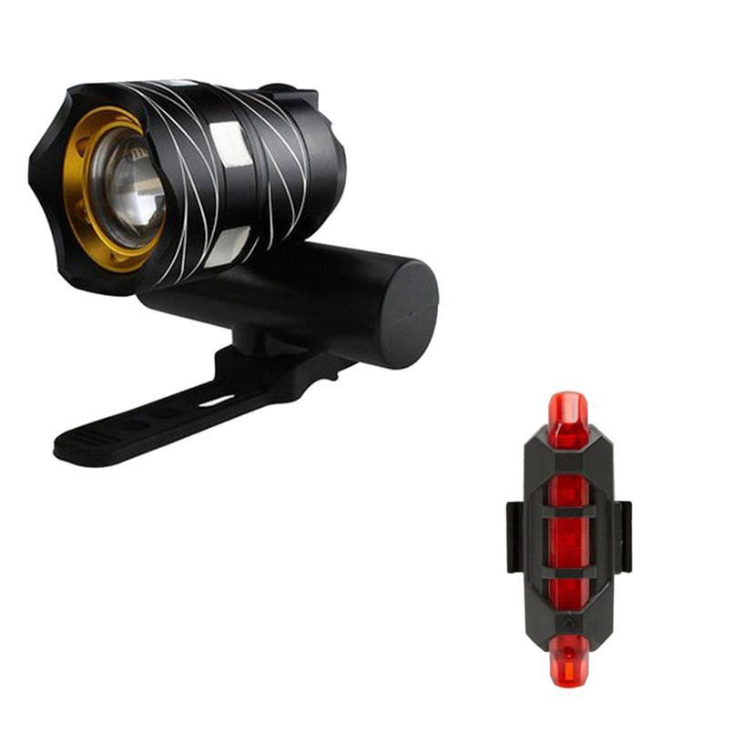 3 Modos USB Recarregável XML T6 DIODO EMISSOR de Luz de Bicicleta À Prova D 'Água Frontal Luz Embutida 3000 mAh Bateria Com Bicicleta Luz Da Cauda 40A15