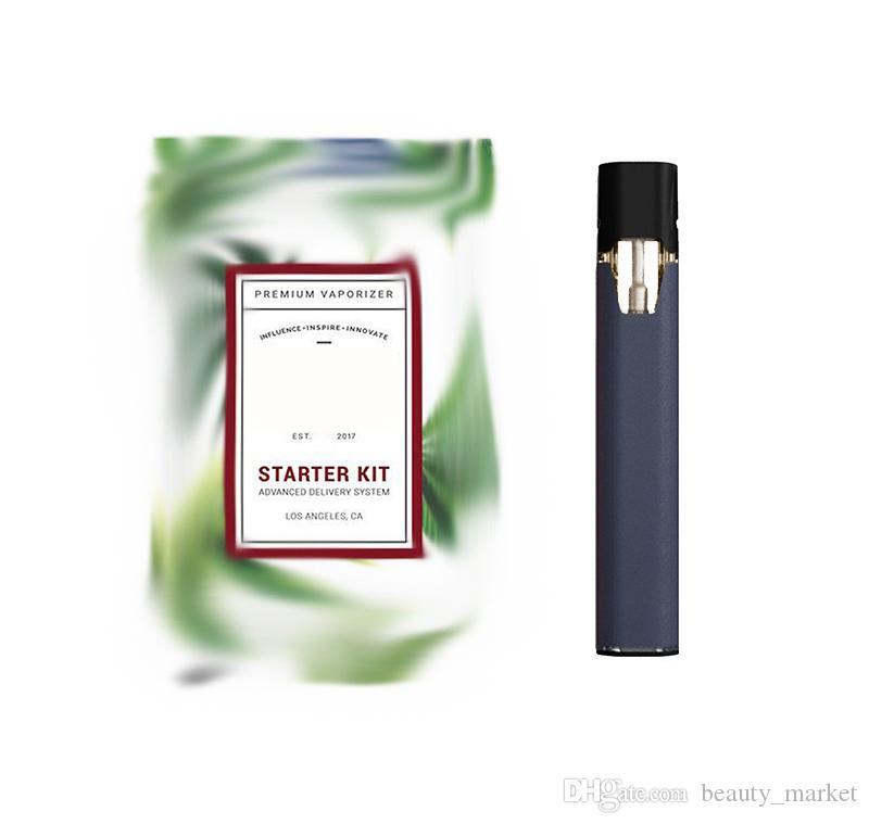 Устройство электронных сигарет премиум вапоризатор 210mah емкости перезаряжаемые наборы стартера Вит USB-кабель против Vape ручка картриджи Коко Кит
