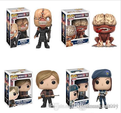 Nicegift FUNKO POP neue Resident Evil 10 cm NEMESIS, JILL VALENTINE, licker Action Figure Sammlung Modell Spielzeug Für Kinder Geburtstagsgeschenk