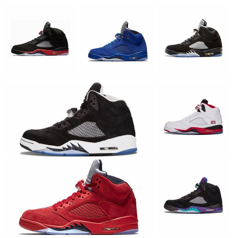 Hot New 5S Белого цемент Mens Basketball обувь Red Blue Suede белого цемент Oreo Выполнить тренер мужчин Огня Красных спортивных кроссовок дизайнера обувь