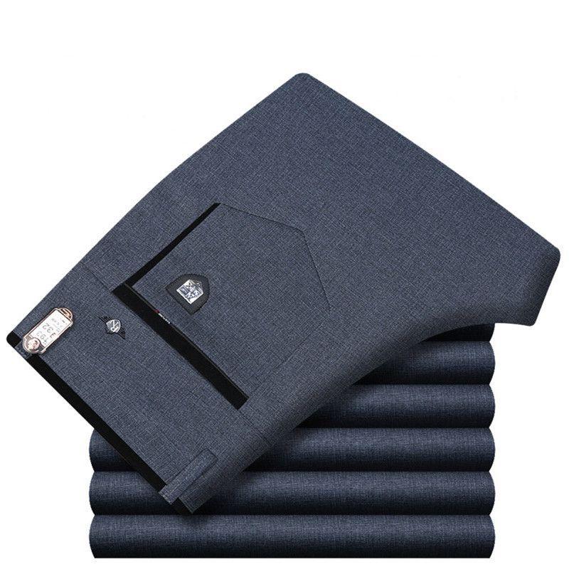 Men Dress Pants Straight Business Office Mens Suit Pants Summer Mens Formal Big Size Classic Trousers Male