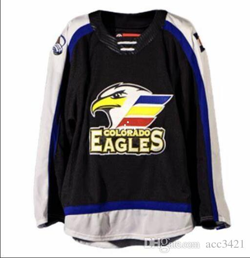 Personal Men Youth women Vintage Custom 2018 20 Jersey Colorado Eagles Vintage Hockey S-5XL