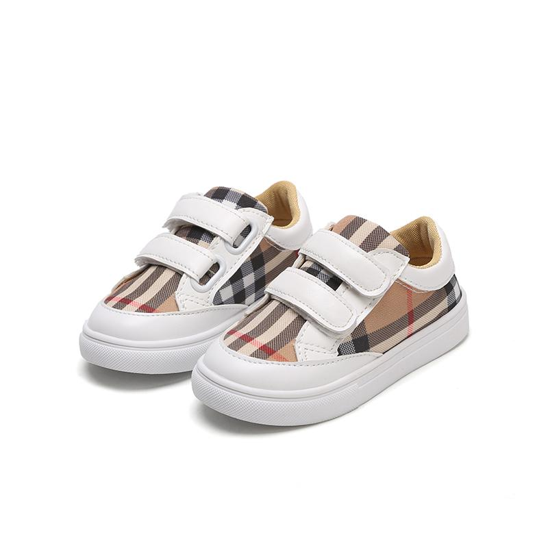 Kids Boys Girls Fashion Sneakers Baby/Toddler/Little Kids Leather Trainers Children School Sport Shoes Soft Casual Shoes