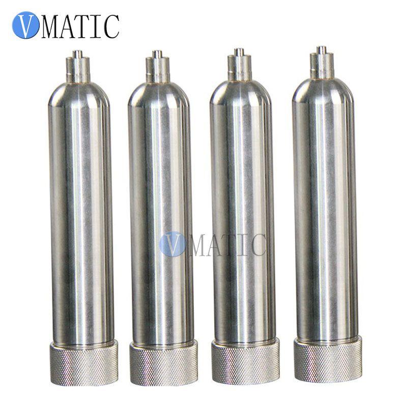 Envío libre 55cc / ml resistente a la corrosión del acero inoxidable de los conos de suministro de cola neumático Jeringa