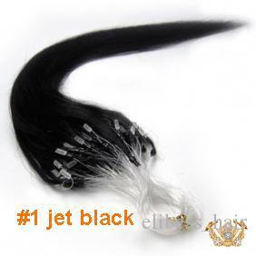 2015 Os melhores extensões de cabelo virgem de venda micro circuito de 1,0 gramas por cordão 100 fios por pacote #purple e 1 # Jet Black