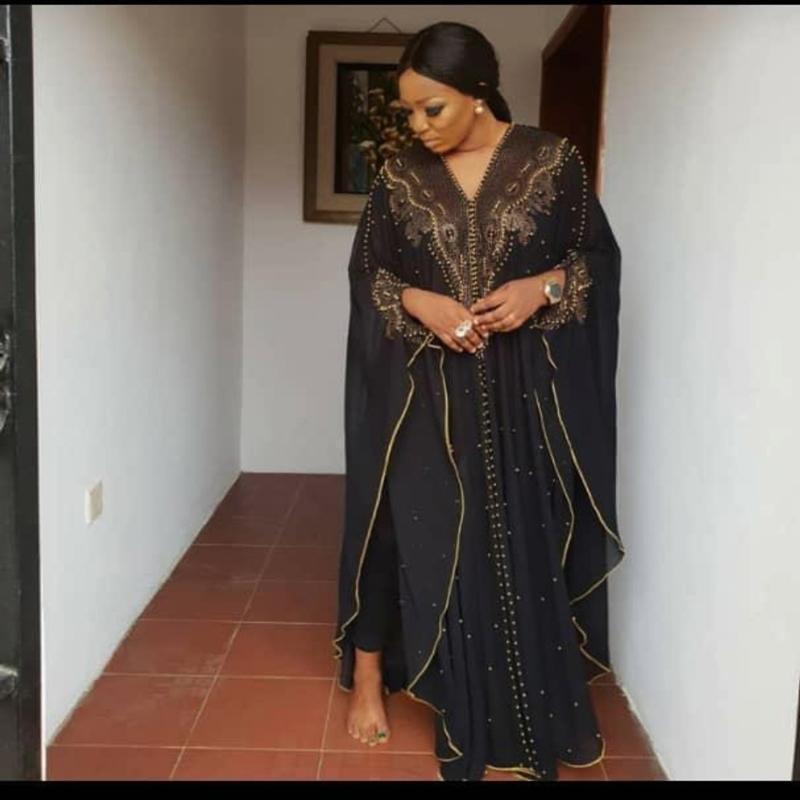 Мода лето African платья для женщин плюс размер горячего сверла ногтя шариков удлиненный шаль и капюшон плаща