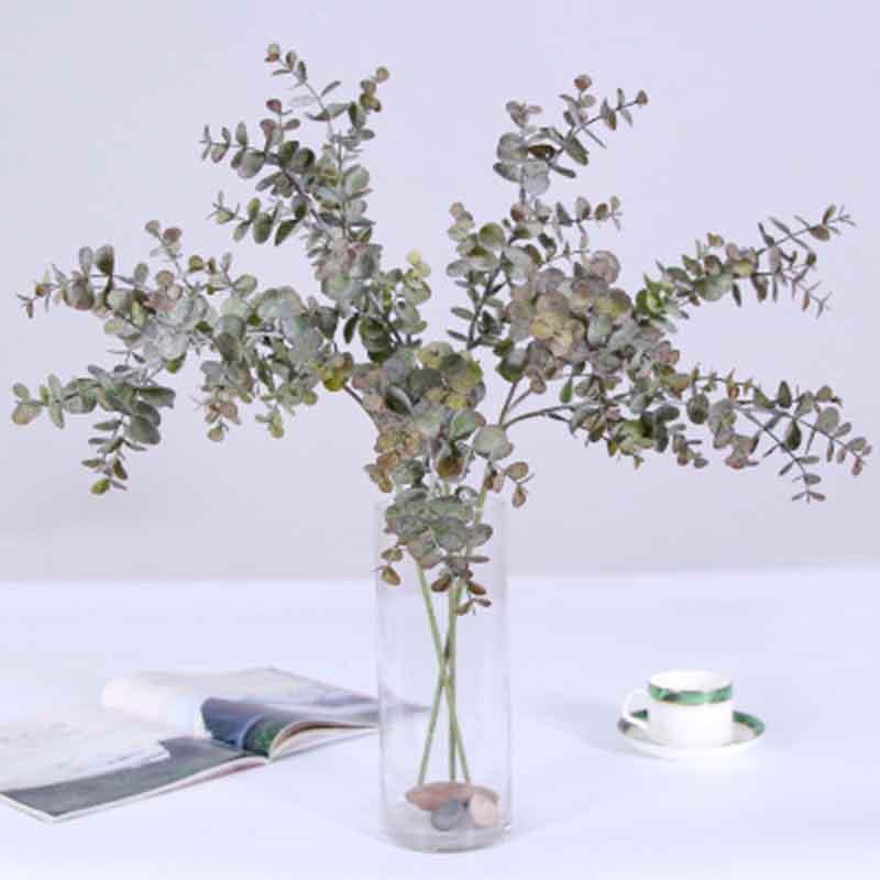 3 지점 / 꽃다발 인공 보스턴 펀 실크 인공 실크 녹색 식물 가짜 잎 공예 가짜 단풍 홈 장식