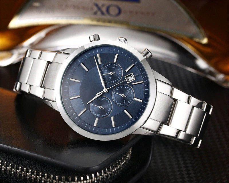 Alle Subdial Arbeitsherrenmode Luxusuhr AR-Art-Edelstahl Chrono Funktion Designer Quarz-Uhrwerk Uhren Sport Militär Uhr