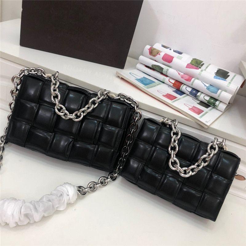 Ins basit küçük kare paket kaset sünger çanta deri çanta diyagonal kareli yastık dokuma omuz çantası cüzdan çanta womens