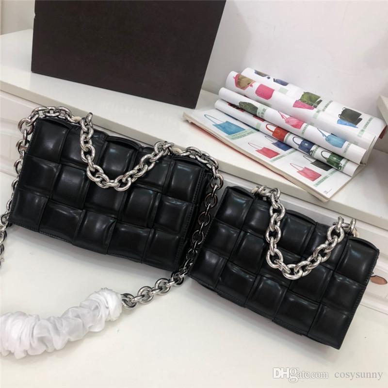 Ins simples petit sac cassette d'emballage carré de sacs à main en cuir de sac de l'éponge diagonale carreaux oreiller tissé d'épaule des femmes de sacs à main sacs à main