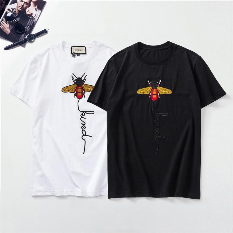 Yeni mevsim Marka Erkek Tasarımcı Tişörtler Kız Tişört Moda Kısa Kollu Gömlek Harfler Kadın Yaz Tees Üst Kalite CCX 2032301V