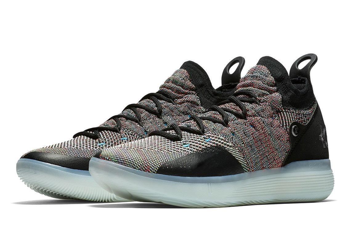 2019 nuevos zapatos de niño de Hombres Jóvenes KD XI 11 EP Oreo Negro Baloncesto Buena calidad Kevin Durant 11s niños de los zapatos corrientes Tamaño 36-46