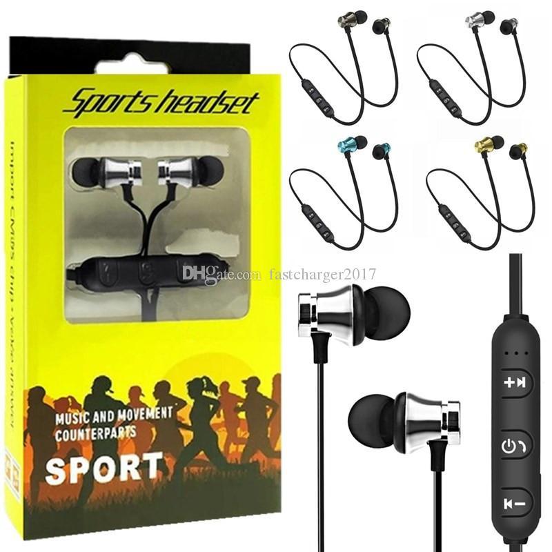 Sem fio Fone de ouvido Bluetooth Sports In-Ear BT 4.2 Stereo fone de ouvido Magnetic fone de ouvido intra-auriculares com microfone para Samsung com pacote