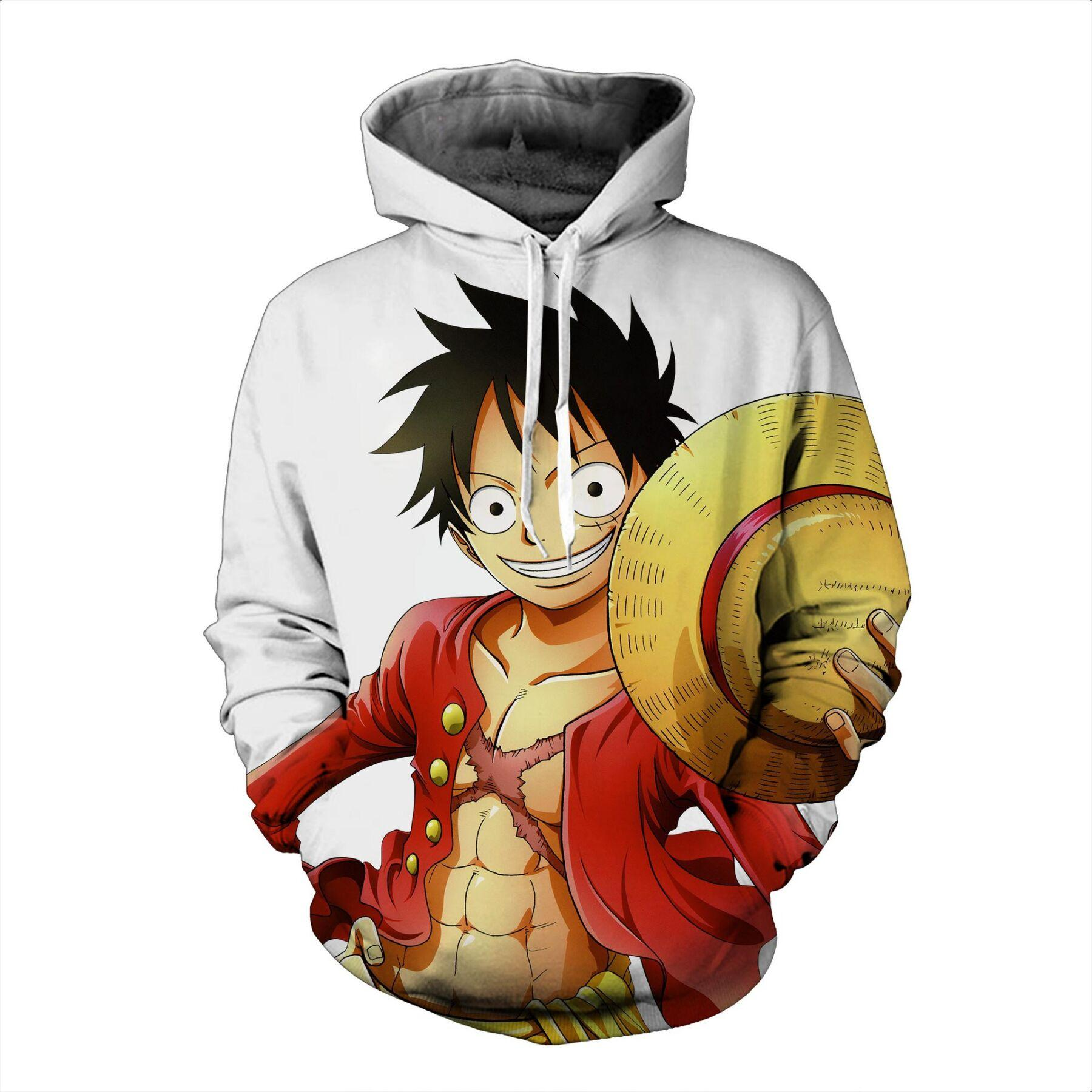 Newest Japan Anime Straw Hat Luffy of One Piece Hoodies 3D Print Clothing Women/Men Unisex Funny 3D Hoodies Casual Pullovers Tops K540