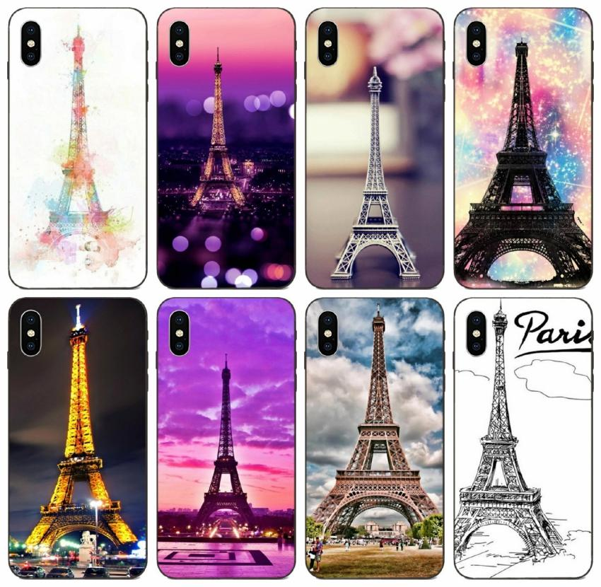 iPhone Para o Caso Torre [TongTrade] Romantic Paris Eiffel Amor 11 8s 7s 6s 5s 4s Samsung A7 Huawei Y5 LG G3 grossista Mini Pro Max X XS