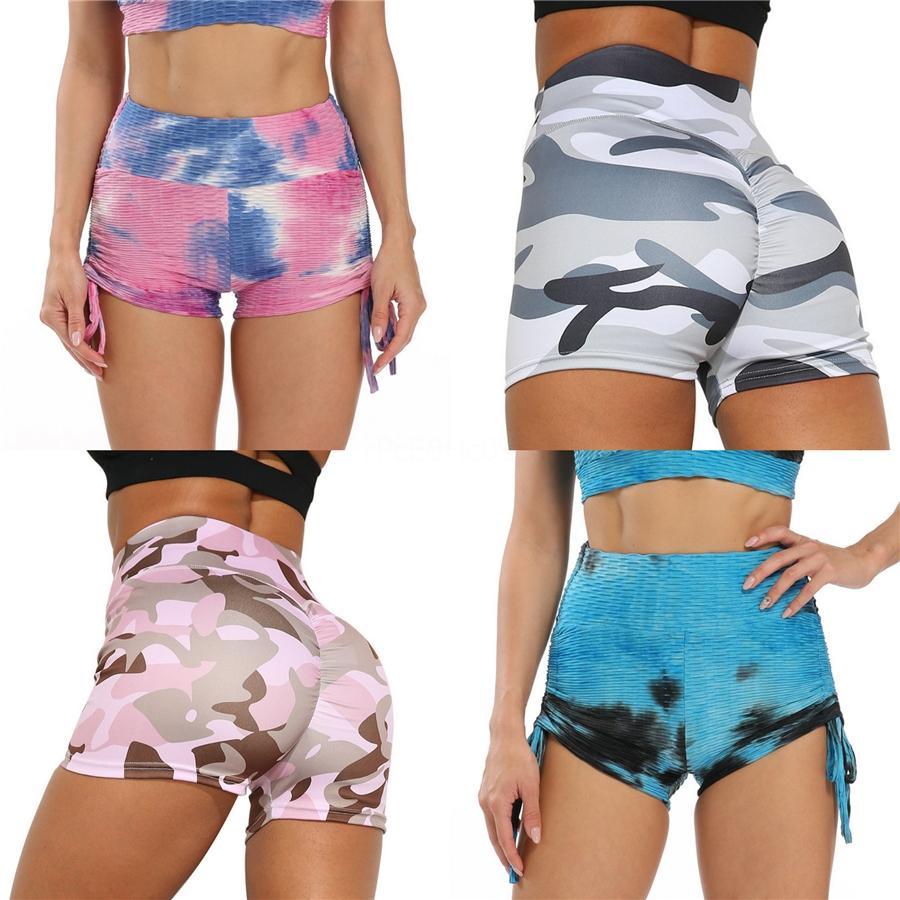 Rtsu Curva vita alta Shorts Donne Sport Pantaloncini fitness Yoga Wicking Pantaloni di tuta funzionamento di ginnastica # 749